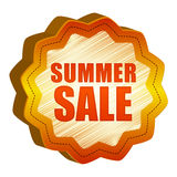 Label summer Sale Royalty Free Stock Photos