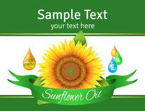 Label sunflower oil Royalty Free Stock Photo