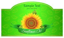 Label sunflower oil Royalty Free Stock Photography