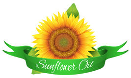 Label sunflower oil Royalty Free Stock Image