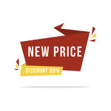 Label superbe de prix discount de vente de style Image stock