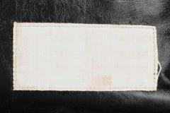 Label sur le cuir Image stock