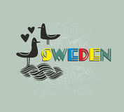 Label of Sweden. Stock Images