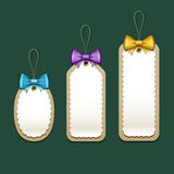 Label and Tag, Colorful ribbons. Merry Christmas design,  illustration Royalty Free Stock Photography