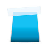 Label tag icon cyan Stock Photos