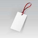 Label Tag Ribbon White Vector  Stock Image