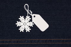 label tag and snowflake Royalty Free Stock Photography