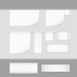 Label Tag Stitch Set White Vector  Stock Image