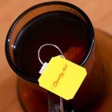 Label of tea closeup Royalty Free Stock Photos