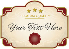 Label template Royalty Free Stock Image
