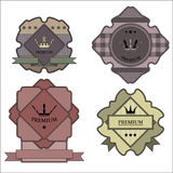 The label templates in the heraldic style. Stock Photos