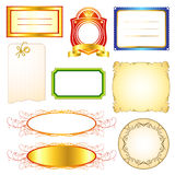 Label templates set 2 Royalty Free Stock Photos