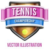 Label for tennis sport competition. Bright premium Stock Photography