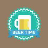 Label with text beer time Stock Images