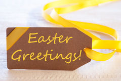Label With Text Easter Greetings Royalty Free Stock Photography