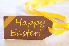 Label With Text Happy Easter Stock Photo