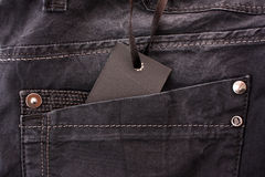 label for text on jeans Royalty Free Stock Image