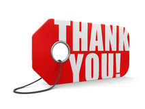 Label Thank You (clipping path included) Royalty Free Stock Photography
