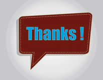 Thanks. A label of thanks,red and blue vector illustration
