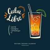 Label tiré par la main moderne de lettrage pour la margarita de cocktail d'alcool illustration libre de droits