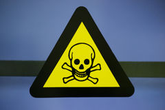 Label toxic chemicals. Royalty Free Stock Images