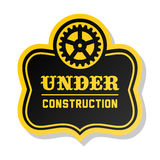 Label under construction Royalty Free Stock Photography