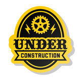 Label under construction Royalty Free Stock Images