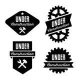 Label under construction stock illustration
