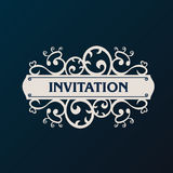 Label vector frame. Vintage banner background Royalty Free Stock Photos