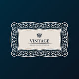 Label vector frame. Vintage banner decor Royalty Free Stock Images