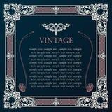Label vector frame. Vintage tag decor medieval Stock Photo