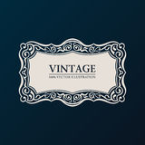 Label vector framework. Vintage banner decor Royalty Free Stock Photos