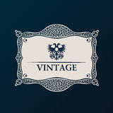 Label vector framework. Vintage tag decor Royalty Free Stock Images