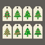 Label. Vector set of colored templates for Christmas and New Year Stock Image