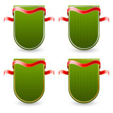 Label vert avec le ruban illustration libre de droits