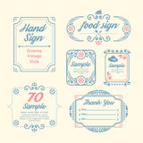 Label Vintage Design Labels Infographic Template Royalty Free Stock Photos
