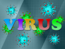 Label the virus Royalty Free Stock Photography
