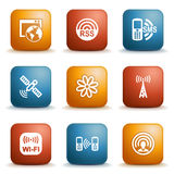 Label for website 30. Vector icons set for websites, guides, booklets Royalty Free Stock Images