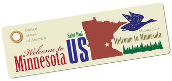 Label Welcome to Minnesota Royalty Free Stock Photography
