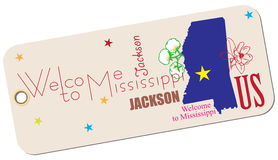 Label Welcome to Mississippi Royalty Free Stock Photos