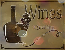Label wine list on an abstract background Royalty Free Stock Photo