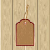 The label on wooden structure. Vector illustration Stock Photography