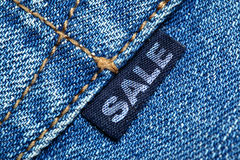 Label with word SALE Stock Image