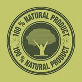 Label with the words 100% Natural Product. Vector illustration royalty free illustration