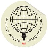 Label for World Press Freedom Day. Label for the holiday of May 3 - World Press Freedom Day Royalty Free Stock Photo