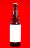 Labeled beer bottle Stock Image