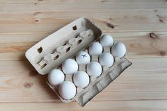 Labeled egg Royalty Free Stock Photos