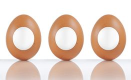 Labeled eggs Royalty Free Stock Images