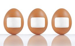 Labeled eggs Royalty Free Stock Photography