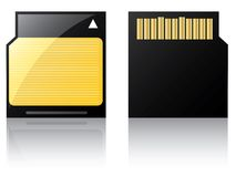 Labeled Mini Sd card Stock Photos